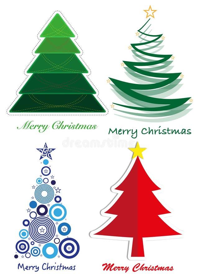 Gestileerde Kerstboom stock foto's