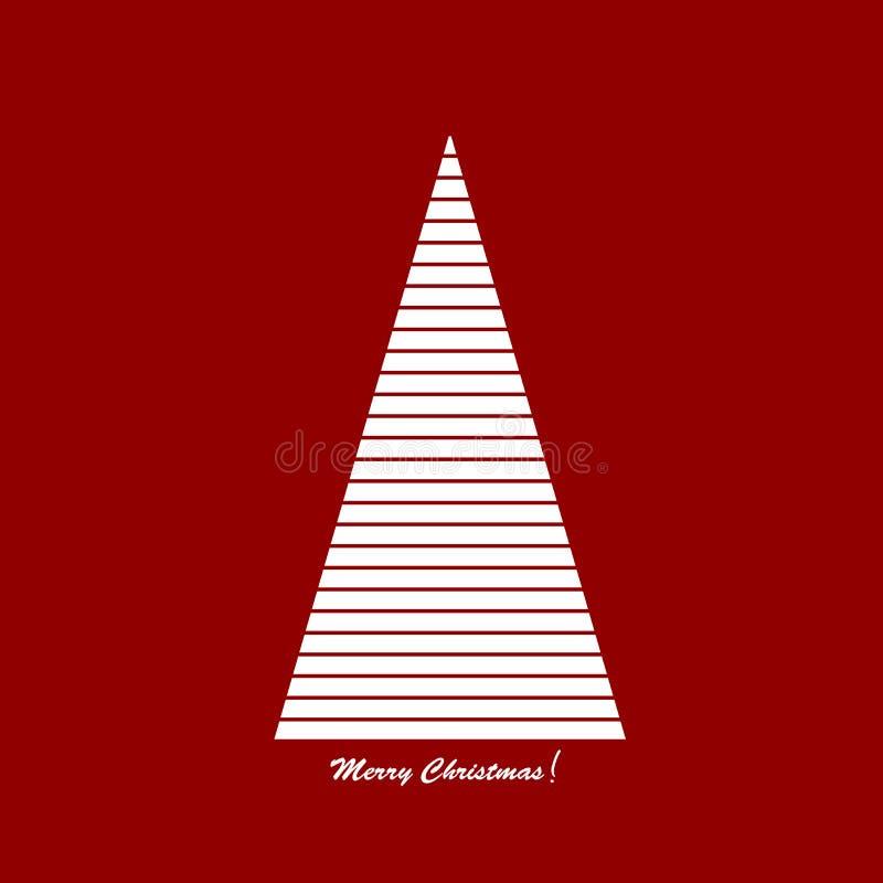 Gestileerde Kerstboom stock illustratie
