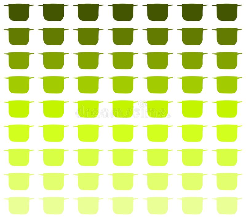 Gestileerde Kleurrijke txture met gestileerde potten vector illustratie