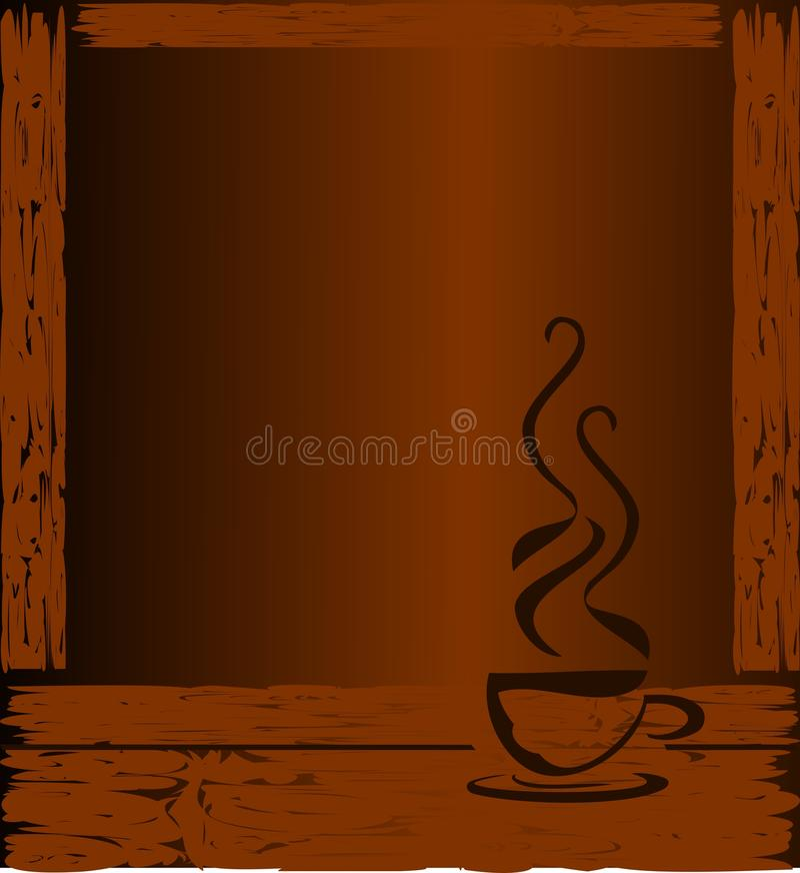 Gestileerde Koffiekop op kleurrijke achtergrond vector illustratie