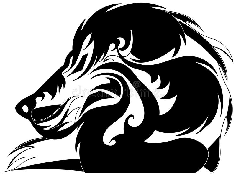 Gestileerde leeuw vector illustratie