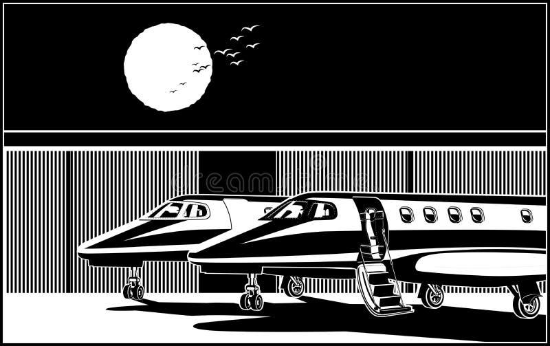 Gestileerde luxe bedrijfsstralen royalty-vrije illustratie