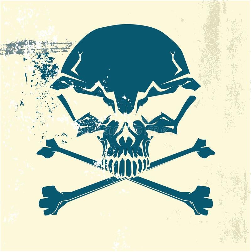 Gestileerde menselijke schedel vector illustratie