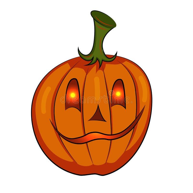 Gestileerde Pompoen Gelukkig Halloween Pompoenlantaarn Jack royalty-vrije illustratie