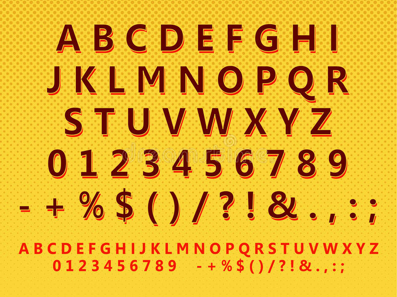 Gestileerde retro brievenreeks stock foto