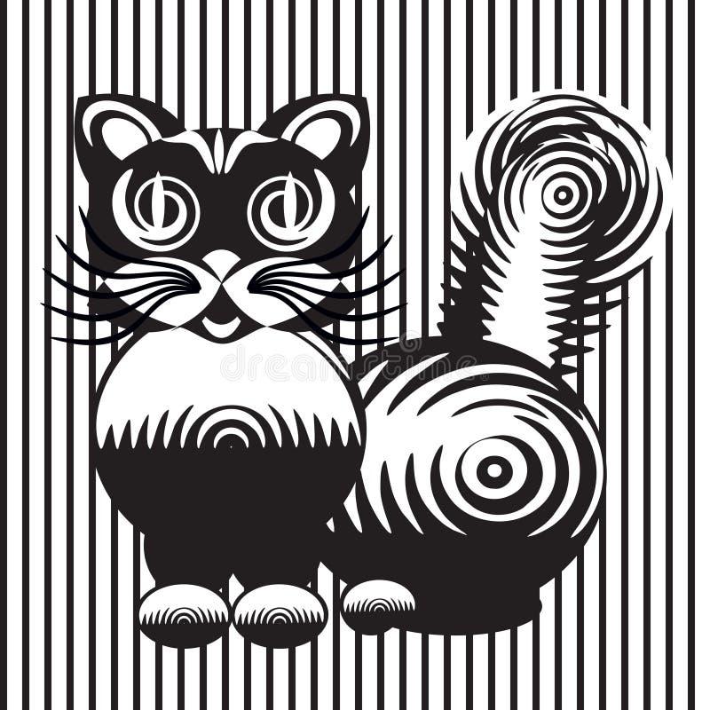 Gestileerde tekening van een kat royalty-vrije stock afbeelding