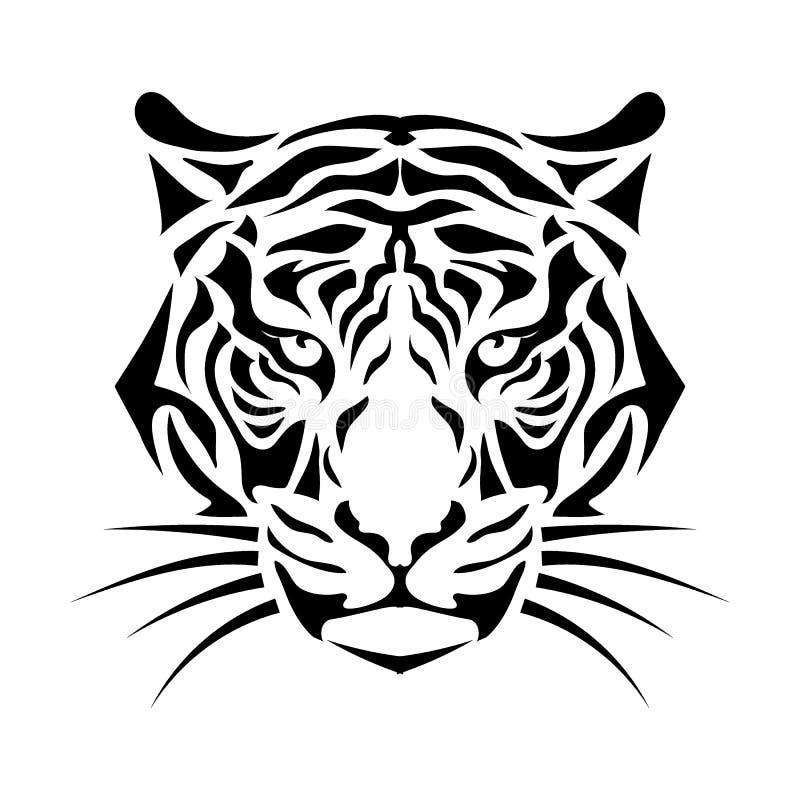 Gestileerde tijgersnuit vector illustratie