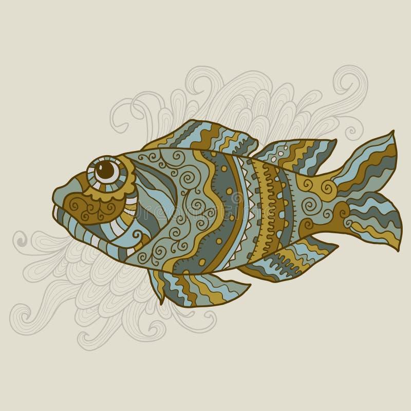Gestileerde vectorvissen vector illustratie