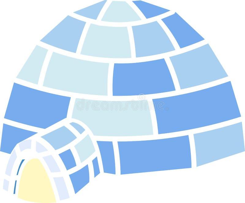 Gestileerde vlakke iglo op witte achtergrond vector illustratie