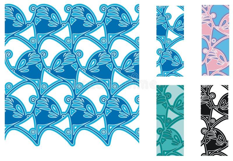 Gestileerde Vlinders Royalty-vrije Stock Afbeeldingen