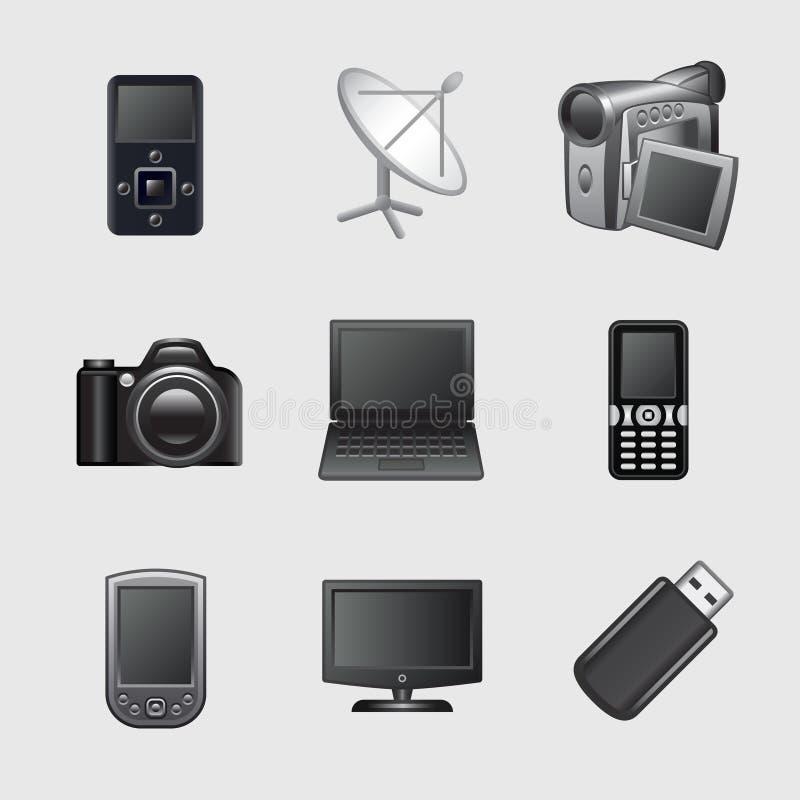Gestileerde Webpictogrammen, reeks 12 stock illustratie