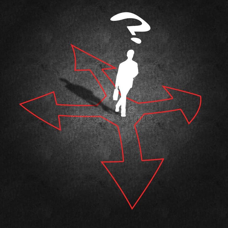 Gestion et prise de décision d'entreprise illustration libre de droits