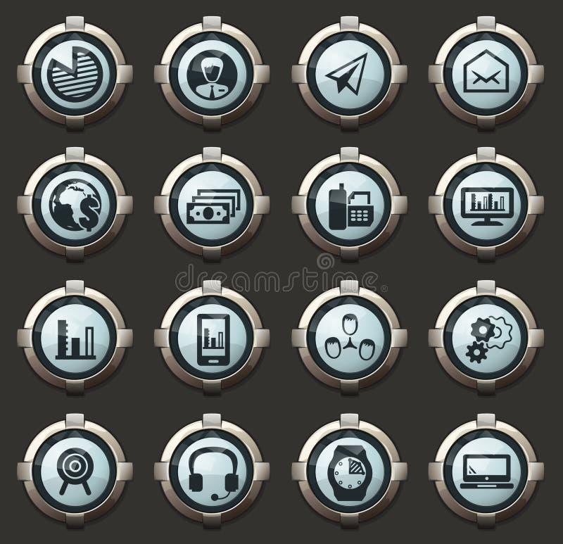 Gestion d'entreprise et ensemble d'icônes de ressources humaines illustration libre de droits