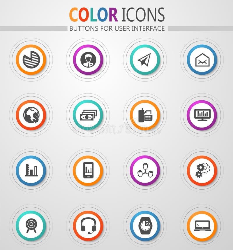 Gestion d'entreprise et ensemble d'icônes de ressources humaines illustration stock