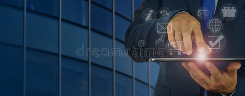 Gestion d'entreprise numérique moderne image libre de droits