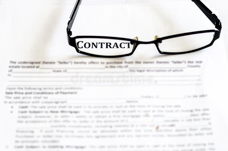 Gestion de contrat images stock