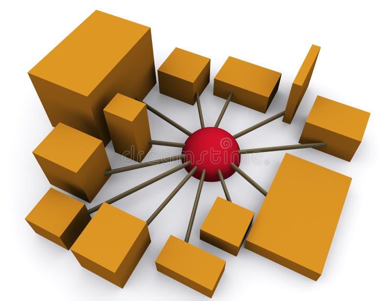 Gestion de réseau 2 illustration libre de droits