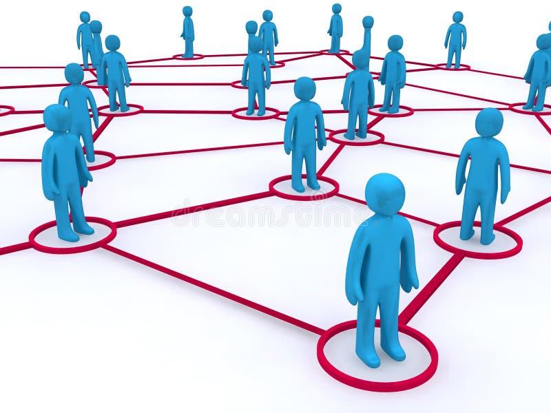 gestion de réseau illustration de vecteur