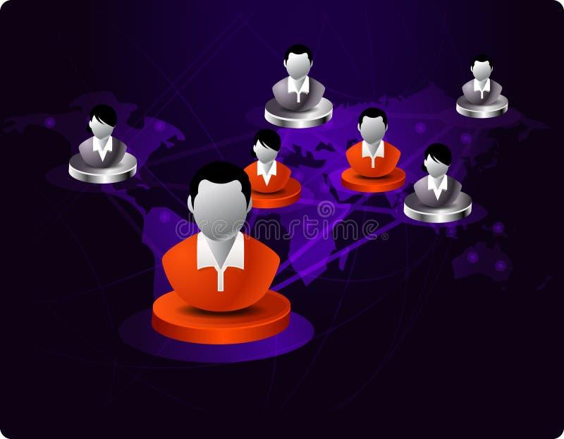 Gestion de réseau d'affaires illustration stock