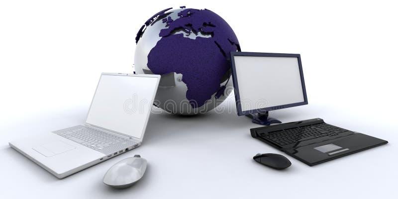 Gestion de réseau globale illustration libre de droits