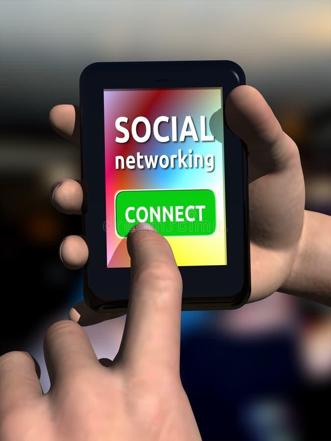 Gestion de réseau sociale illustration stock