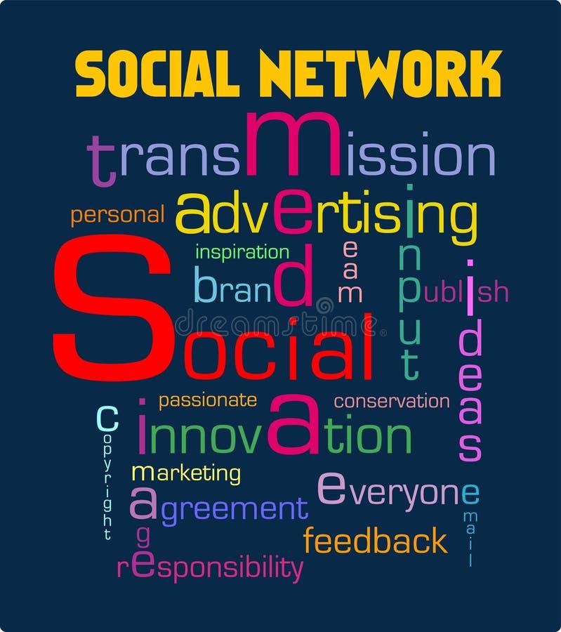 Gestion de réseau sociale illustration de vecteur