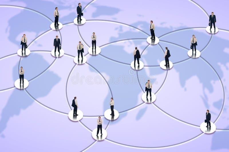Gestion de réseau sociale et affaires globales images libres de droits