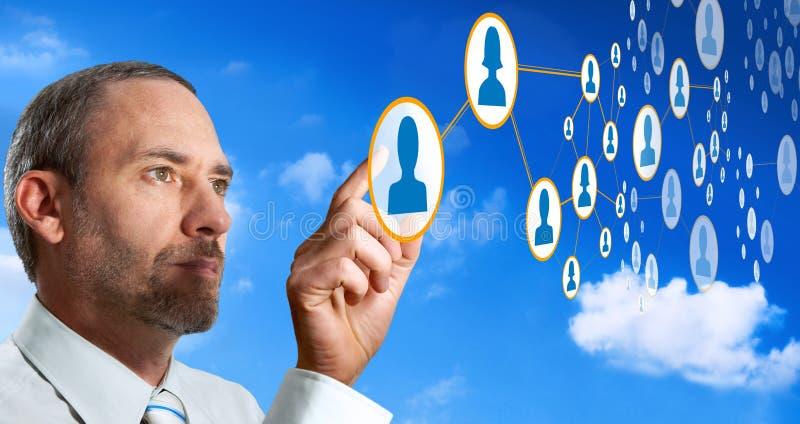 Gestion de réseau sociale - futuriste image stock