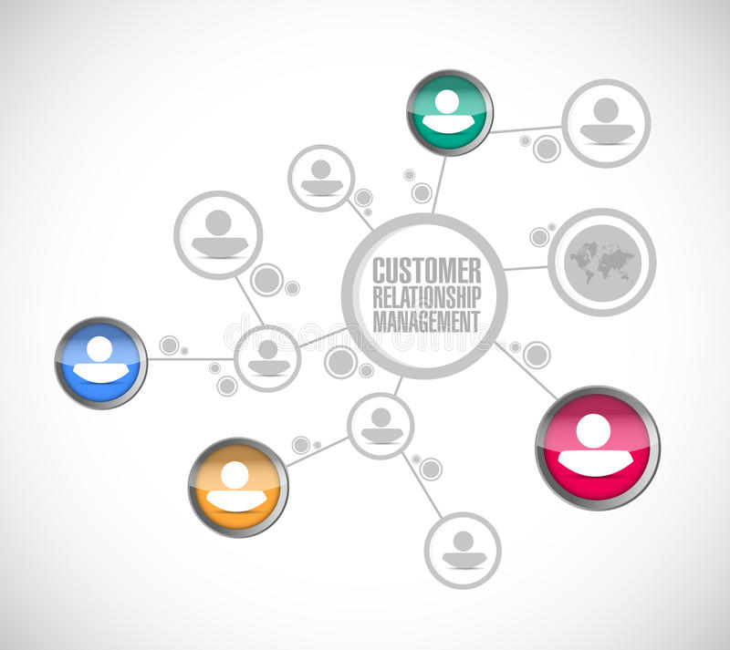 Gestion de relations de client, affaires illustration stock