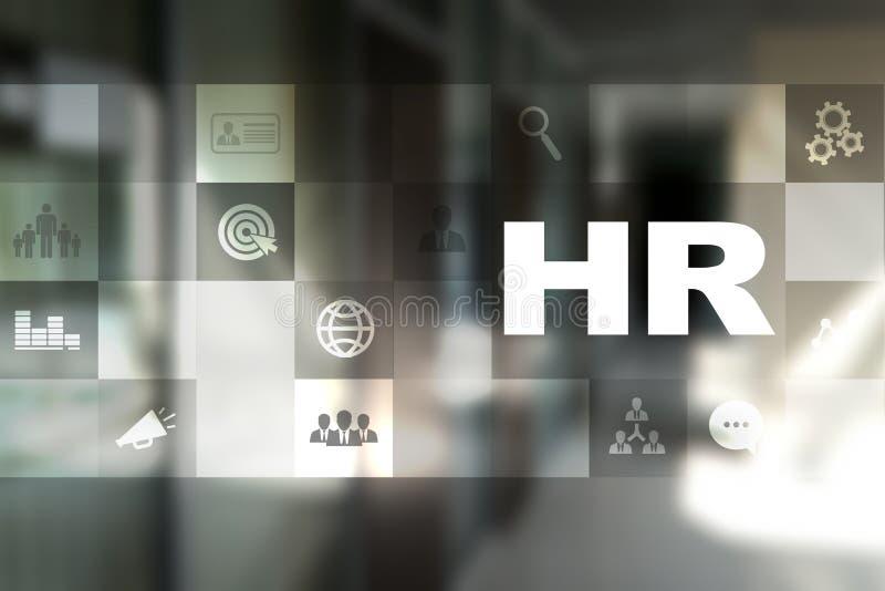 Gestion de ressource humaine, heure, recrutement, direction et teambuilding Concept d'affaires et de technologie images stock
