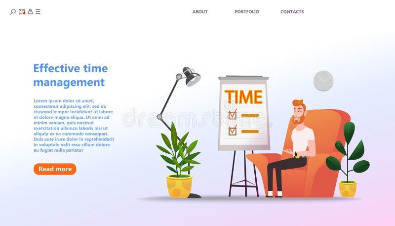 Gestion de temps utile de concept, activit?s de formation de planification illustration stock