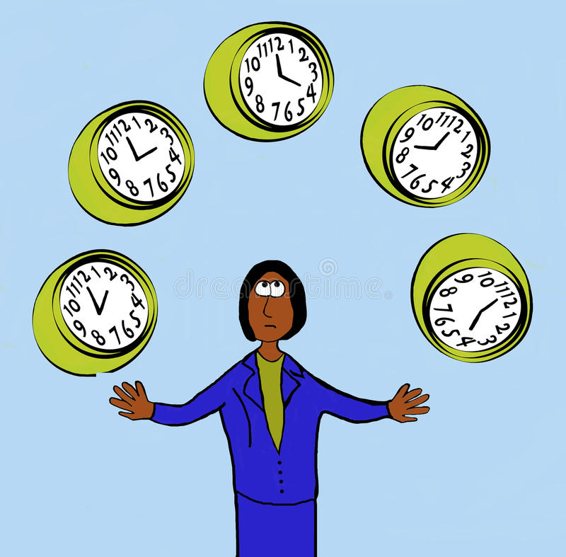 Gestion du temps illustration stock