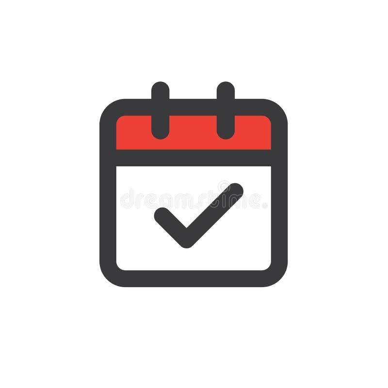 Gestion du temps et icône de programme pour l'événement prochain illustration de vecteur