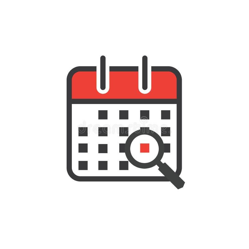 Gestion du temps et icône de programme pour l'événement prochain illustration libre de droits