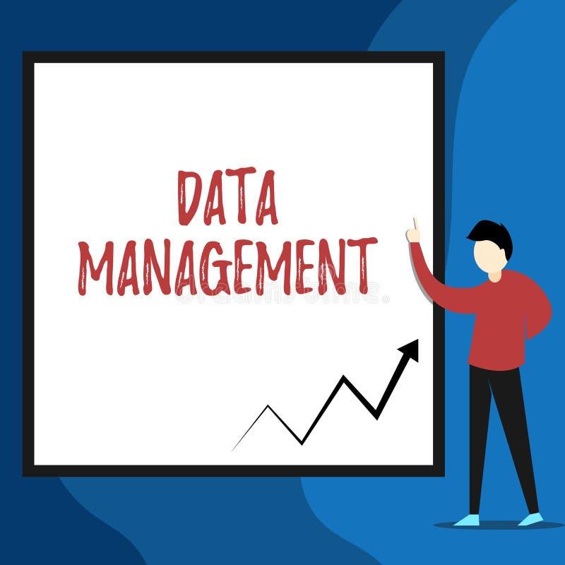 Gestione dei dati del testo di scrittura di parola Concetto di affari per la pratica della vista d'organizzazione e di mantenimen illustrazione vettoriale