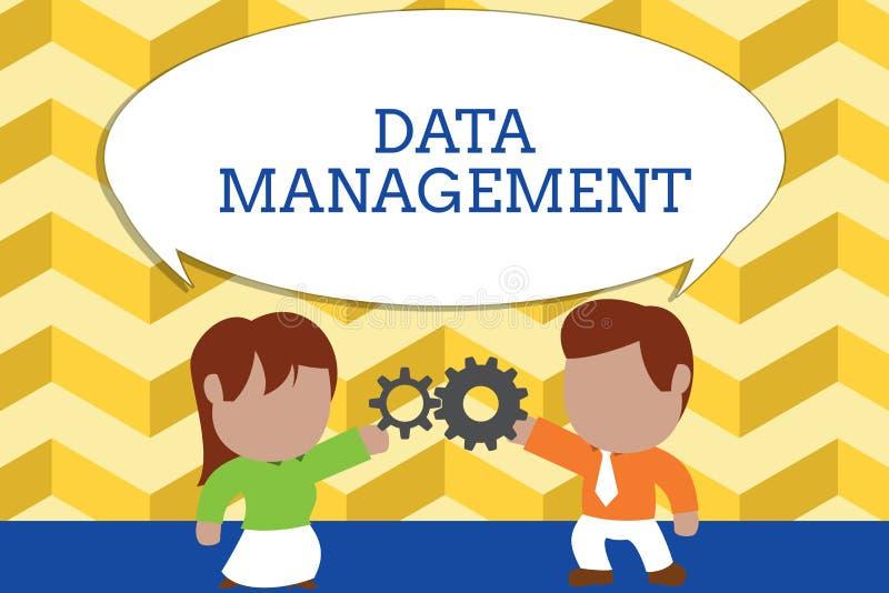 Gestione dei dati del testo di scrittura di parola Concetto di affari per la pratica dei processi d'organizzazione e di mantenime illustrazione di stock