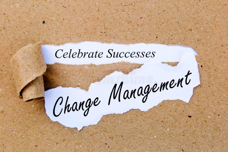 Gestione del cambiamento - celebri i successi - riuscite strategie per la gestione del cambiamento immagine stock libera da diritti