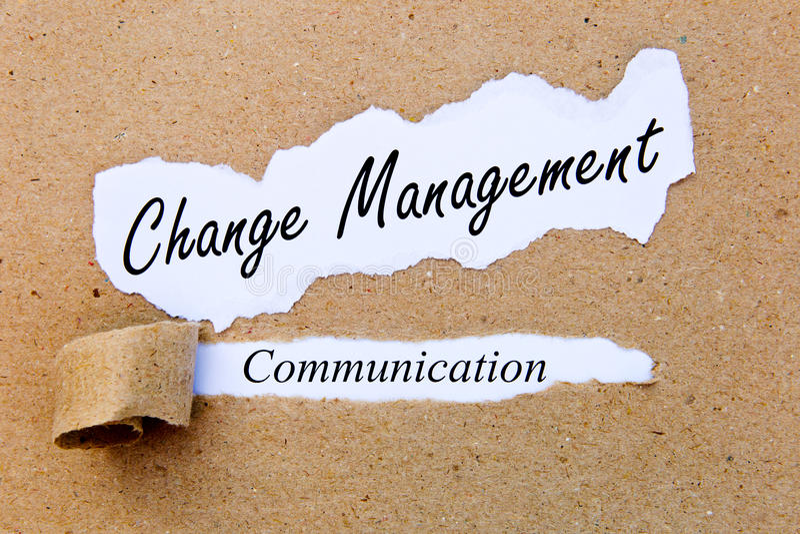 Gestione del cambiamento - comunicazione - riuscite strategie per la gestione del cambiamento fotografia stock libera da diritti