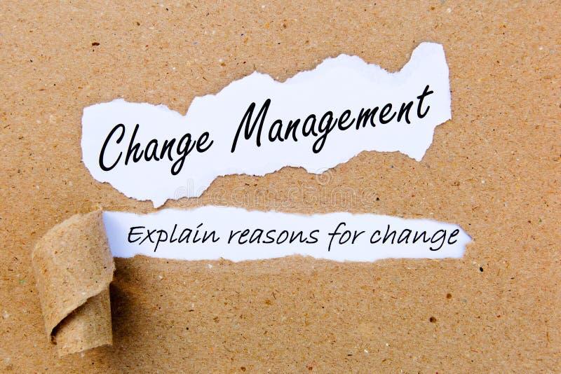 Gestione del cambiamento - spieghi le ragioni per cambiamento - riuscite strategie per la gestione del cambiamento fotografie stock libere da diritti