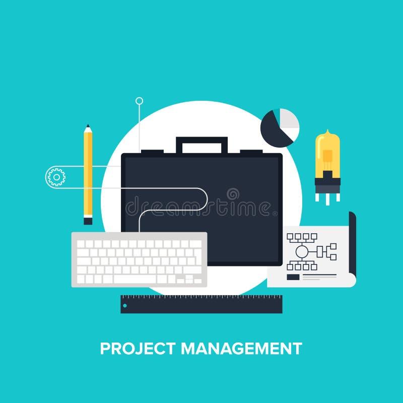 Gestione di progetti illustrazione vettoriale