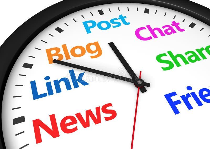 Gestione di tempo sociale di media illustrazione vettoriale