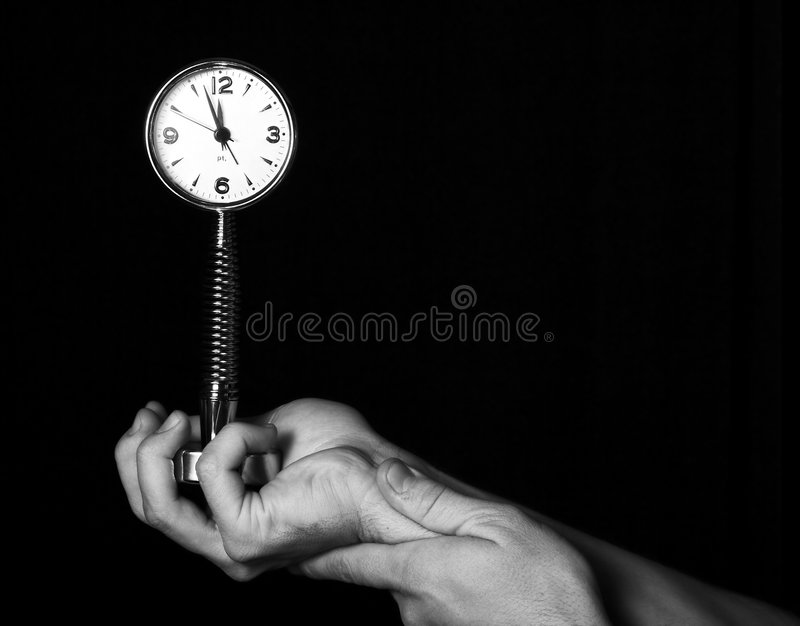 Gestione di tempo - vigilanza fotografia stock