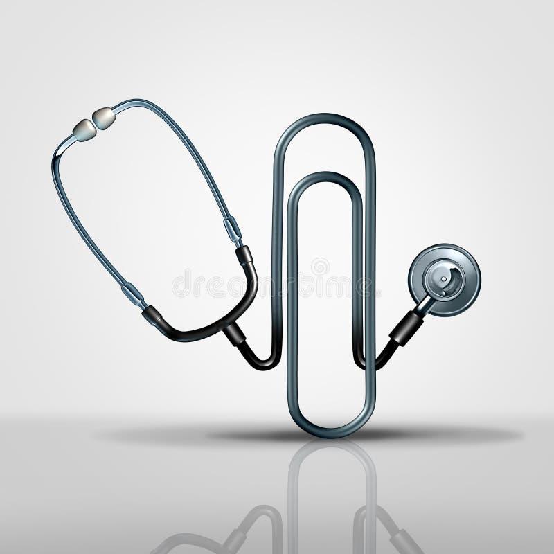 Gestione medica dell'ufficio illustrazione vettoriale