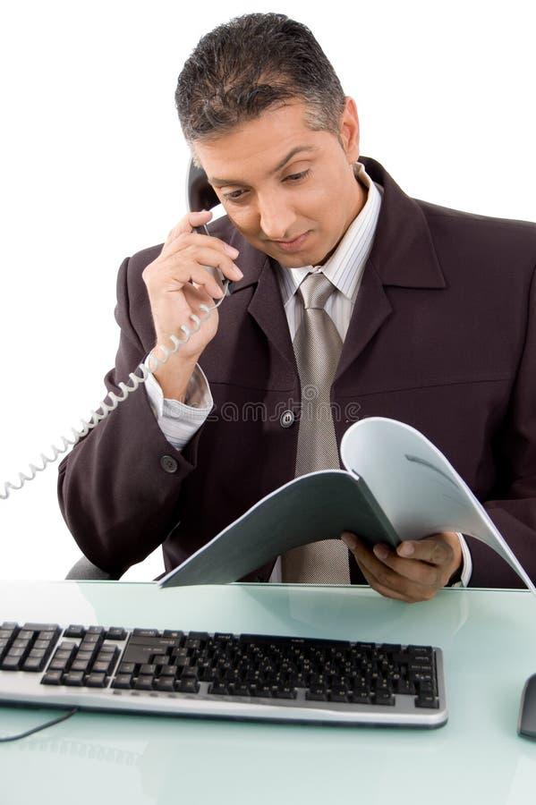 Gestionnaire au travail image stock