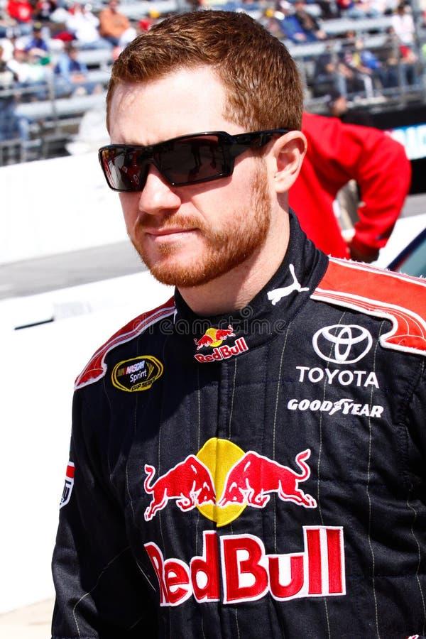 Gestionnaire Brian Vickers de NASCAR images stock