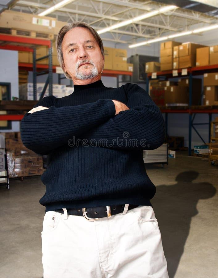 Gestionnaire d'entrepôt image stock