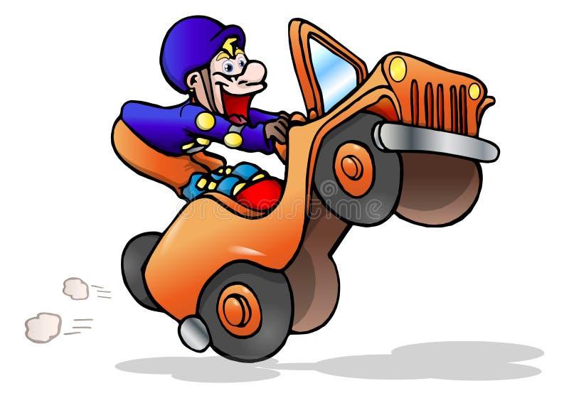 Gestionnaire de jeep illustration libre de droits