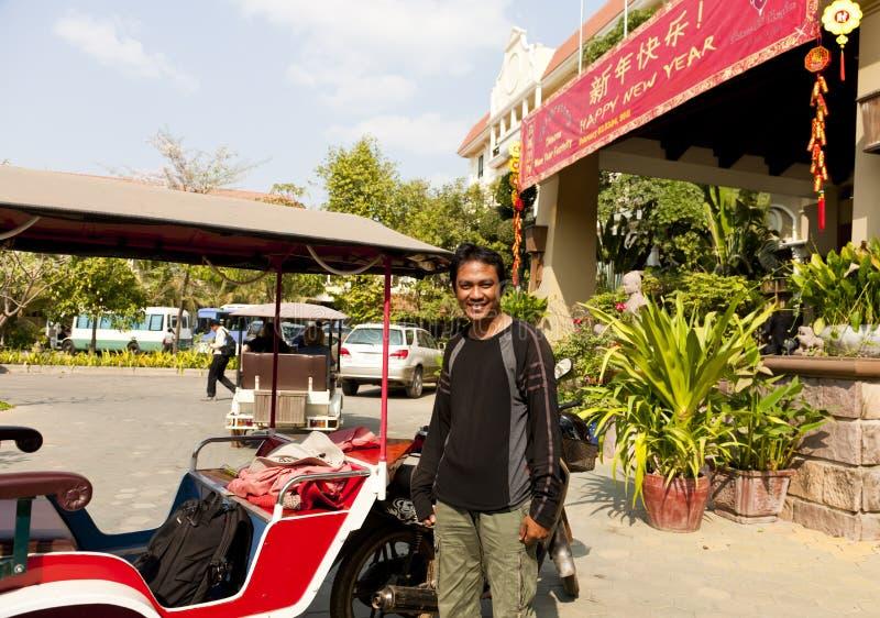 Gestionnaire de Tuktuk images libres de droits