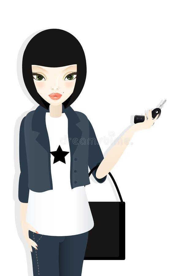 Gestionnaire girl#1 illustration libre de droits