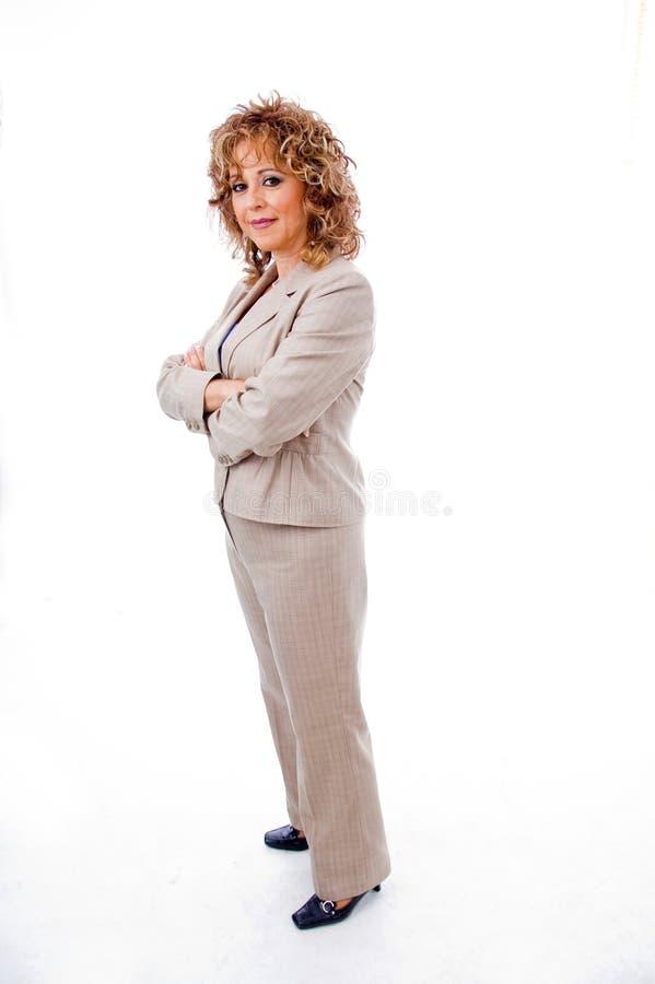 gestionnaire posant l'aîné photo stock